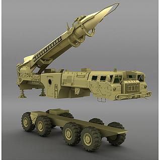 火箭车3d模型