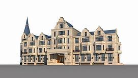 欧式酒店模型
