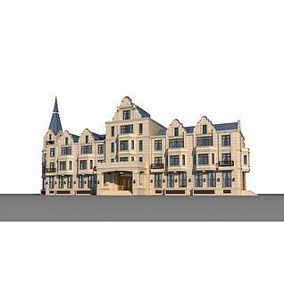 欧式酒店3d模型