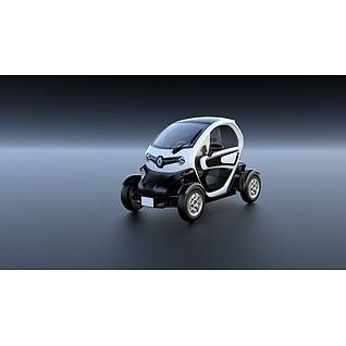 雷诺Twizy电动汽车3D模型3d模型
