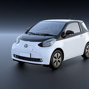 丰田iQ充电动汽车3D模型