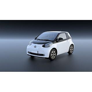 丰田iQ充电动汽车3D模型3d模型