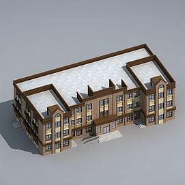 小区配套幼儿园3d模型