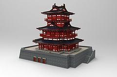 中国古建筑模型3d模型