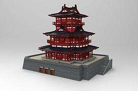 3d中国古建筑模型