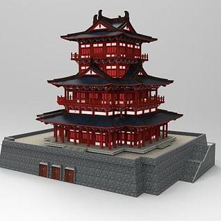中国古建筑3d模型