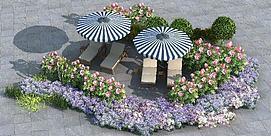 户外植物组模型