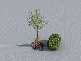 园林摆件模型