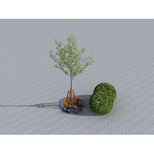 园林摆件3d模型