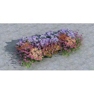 花丛3d模型