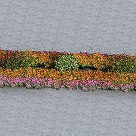 绿化带模型