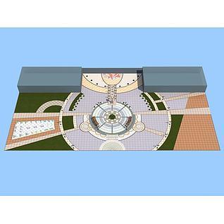 中轴广场3d模型