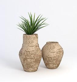 盆栽,装饰模型