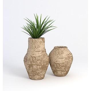 盆栽,装饰3d模型