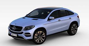 3d梅賽德斯奔馳GLESUV3D模型模型