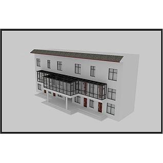 别墅阳光房3d模型