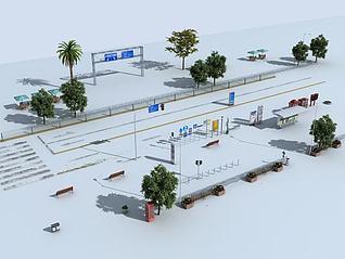 道路常模型模型3d模型