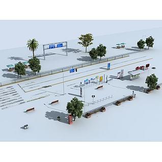 道路常模型3d模型3d模型