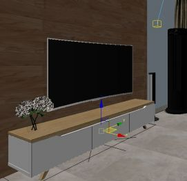 曲面电视机模型