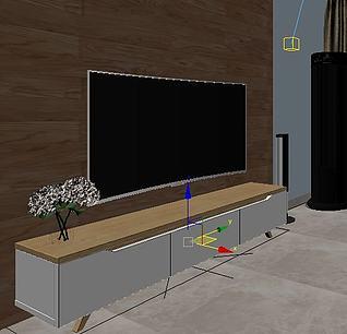曲面电视机3d模型3d模型