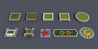 花池花坛3d模型