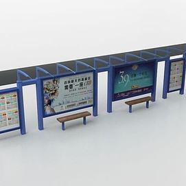 公交站牌模型