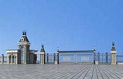 景区大门模型3d模型