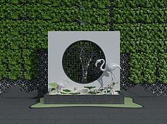 园林景观模型3d模型