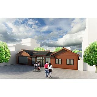 四合院木屋3d模型