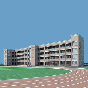 教学楼,学校模型3d模型