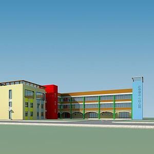 幼兒園模型3d模型