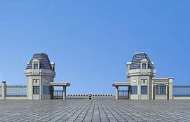 大门门卫入口3d模型