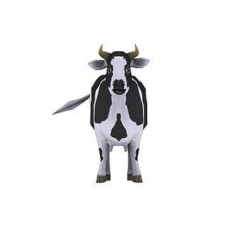 卡通奶牛模型带动画3d模型