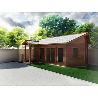 木屋茶室3d模型