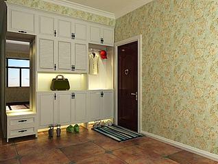 门厅柜3d模型
