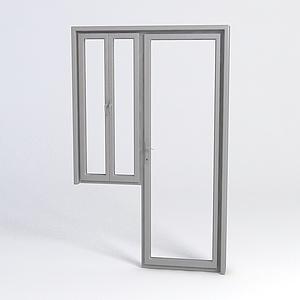 不锈钢窗户门模型
