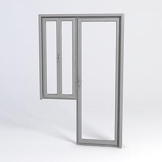 不锈钢窗户门3d模型