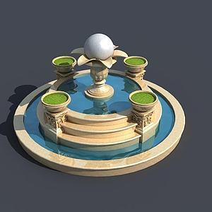 噴泉模型3d模型