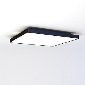 超简易单吸顶灯模型