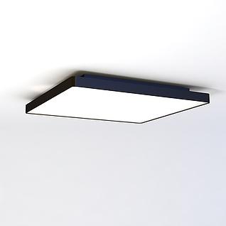 超简易单吸顶灯3d模型