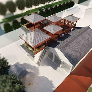 3d屋顶<font class='myIsRed'>凉亭</font>模型