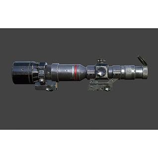 破旧的瞄准镜3d模型
