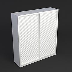 百叶门衣柜模型3d模型