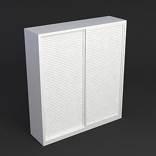 百叶门衣柜3d模型