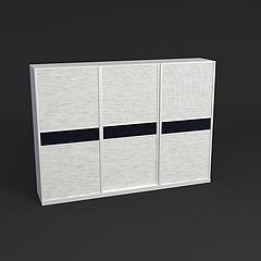 百叶门衣柜(大)模型3d模型
