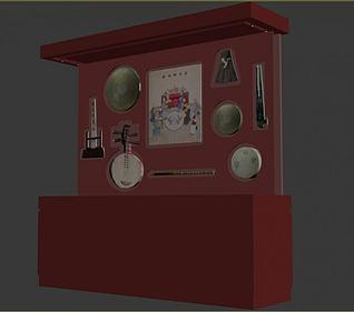 特色展柜3d模型