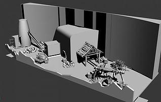 冶炼场景3d模型
