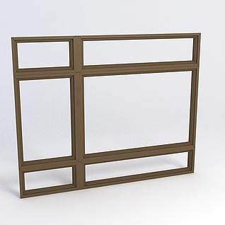 不锈钢窗户3d模型