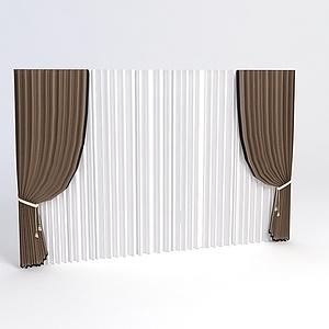 欧式简约窗帘模型