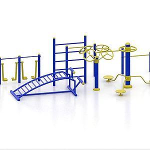 广场健身器材模型